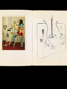 British Museum, Sketchbook page, Sigmar Polke, 1969