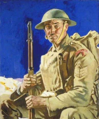 National Portrait Gallery - 'Grenadier Guardsman', William Orpen, 1917