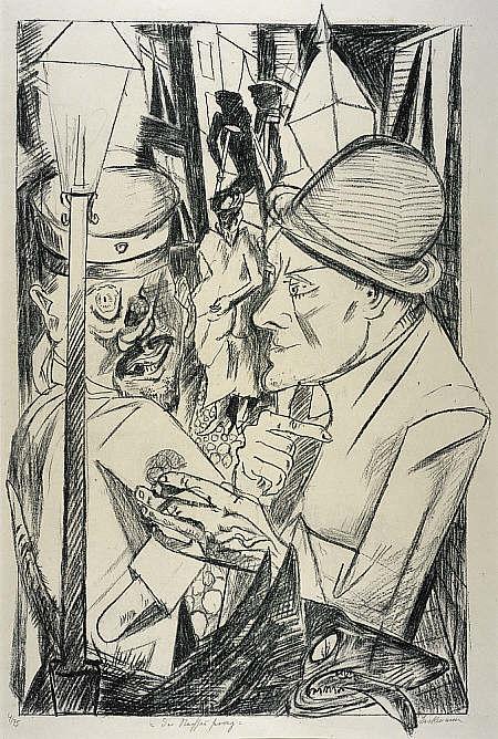 National Portrait Gallery - Max Beckmann, Die Hölle (Hell), Der Nachhauseweg (The Way Home) 1919.