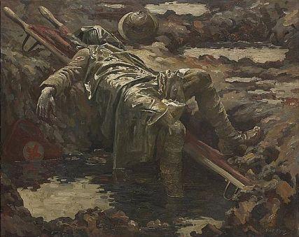 National Portrait Gallery - The Dead Stretcher Bearer, Gilbert Rogers, 1919