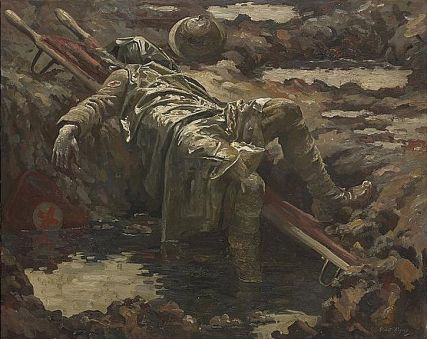 National Portrait Gallery - The Dead Stretcher Bearer, Gilbert Rogers, 1919