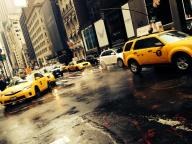 Drains and Taxis in Manhattan, New York