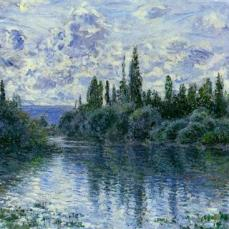 Claude Monet - Arm of the Seine near Vetheuil - Landscape - 1878
