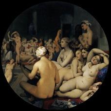 Jean-Auguste-Dominique Ingres - 'The Turkish Bath'.