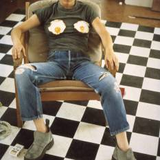 Self Portrait with Fried Eggs 1996 by Sarah Lucas born 1962