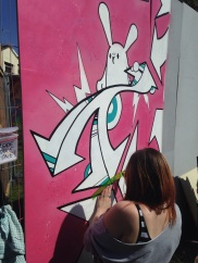 Bristol Upfest 2015 - Pink and White Rabbits