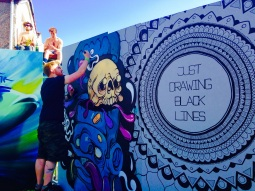 Upfest Bristol 2015 - Just Drawing Black Lines