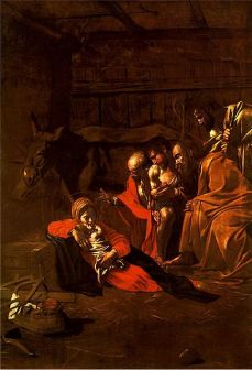 Caravaggio (1571–1610) - Adoration of the Shepherds (1609)