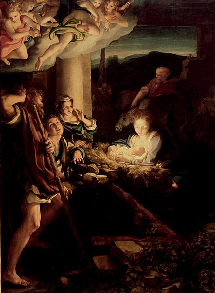 Antonio da Correggio, The Holy Night, Adoration of the shepherds (1522 - 1530)