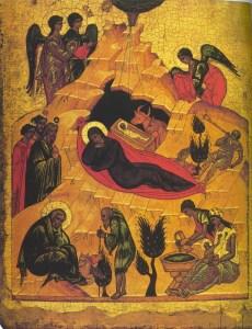 Andrei Rublev - Nativity of Christ, 1405