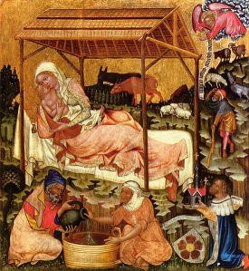 Master of Vyšší Brod, Mistr Vyšebrodský - Nativity Scene (c.1350)
