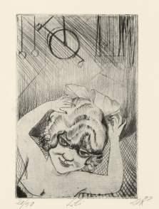 Otto Dix - Prostitute Etching (Weimar)