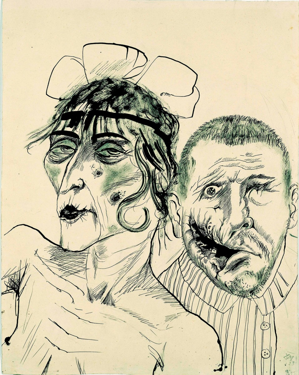 Otto Dix - Veteran and the Prostitute