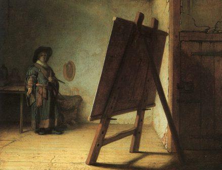 Rembrandt, Artist in his Studio, 1629