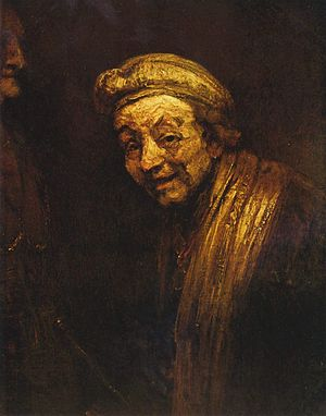 Rembrandt - Self Portrait as Zeuxis, c. 1662