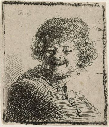 Rembrandt - Self Portrait Laughing, 1630