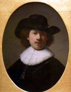 Rembrandt - Self Portrait with a Wide Brimmed-Hat, 1632