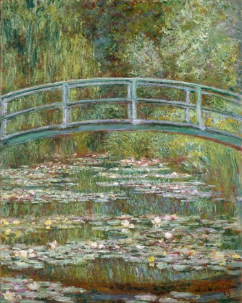 Working Title/Artist: Monet: Bridge over a Pond of Water LiliesDepartment: European PaintingsCulture/Period/Location: HB/TOA Date Code: Working Date: photography by mma, Digital File DT1854.tif retouched by film and media (jnc) 12_7_10