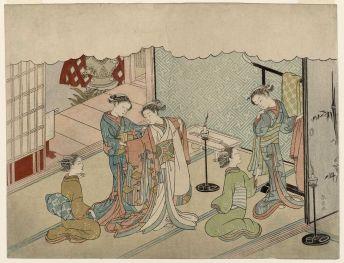 Harunobu - The Bride's Changing Room