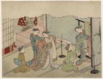 Harunobu - The Bride's Changing Room