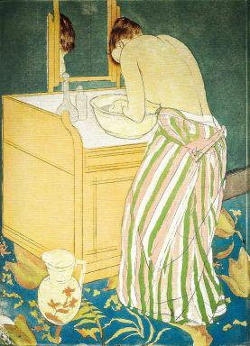 Mary Cassatt - Woman Bathing - 1891