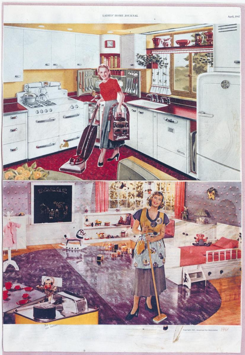 Eduardo Paolozzi, It's a Psychological Fact Pleasure Helps your Disposition (1948) - from Ten Collages from BUNK